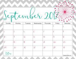 september 2017 calendar cute 2018 calendar printable