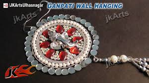 diy how to make ganpati car and wall hanging out of waste dvds