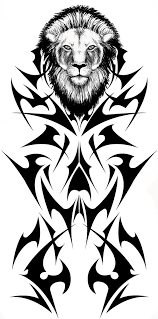 tribal lion tattoo concept by fallingfreely on deviantart