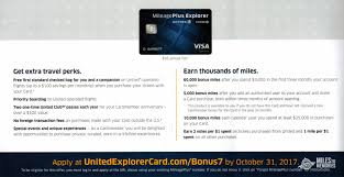 mileageplus explorer card new targeted offer