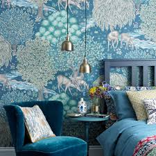 awesome blue living room wallpaper part 14 ideal home home