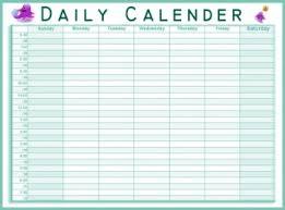 daily calendar excel calendar templates pdf