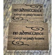 Geek Doormat Road Goes Ever On Geek Doormat Tolkien