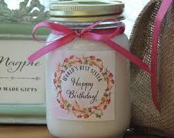personalized birthday candles happy birthday sis etsy