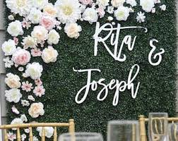 diy wedding backdrop names laser cut sign etsy