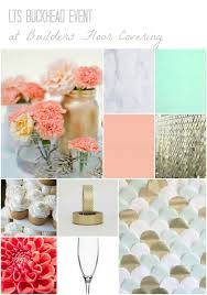 mint pink gold event builders floor covering grand opening