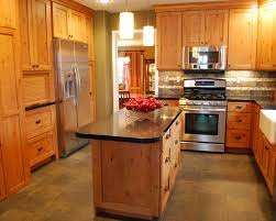 Knotty Pine Cabinets Kitchen Design U0026 Decorating Rustic Kitchen With Awesome Knotty Pine