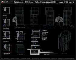 4 x 4 house autocad plan architetture pinterest autocad and