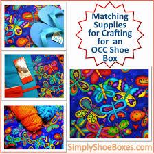simply shoeboxes choosing fabric and yarn to craft for an