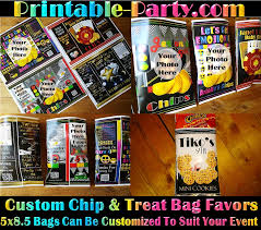 personalized party favor bags printable custom party favor bags custom chip bags