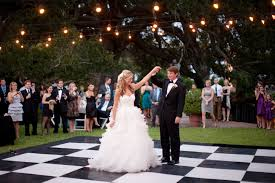 Backyard Wedding Ideas On A Budget Backyard Goes Glam With A Black And White Checkered Dance Floor