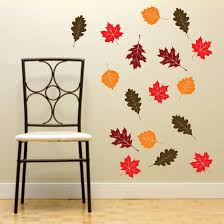 fall leaf wall decals set 20 autumn leaves vinyl rub on