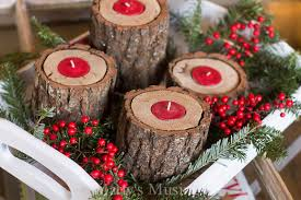 Christmas Decorating Tea Light Holder by Diy Rustic Wood Candle Holders