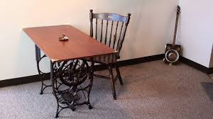 Steampunk Furniture Steampunk Table Antique Treadle Sewing Machine Base Youtube