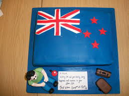 Flag New Zealand New Zealand Flag Cake Emigrating To New Zealand Novelty Ca U2026 Flickr