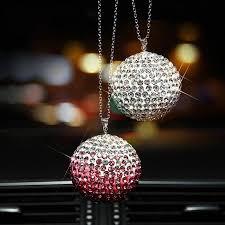 car rear view mirror charms rhinestone hanging