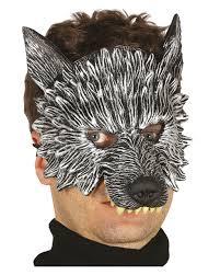 wolf half mask halloween costume accessories horror shop com