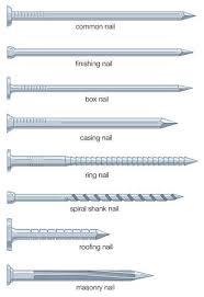 stock illustration different types of nails