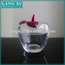 decorative glass apple ornament apple shape container apple shape