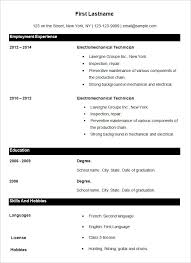Free And Easy Resume Templates Basic Resume Template U2013 51 Free Samples Examples Format