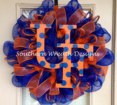 university of florida gators mesh wreath by southernwreathdesign