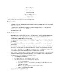 Soccer Coach Resume Samples by Soccer Resume
