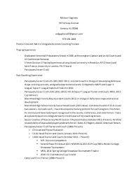 Soccer Resume Samples by Soccer Resume
