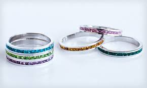 stackable birthstone rings stackable birthstone rings groupon goods