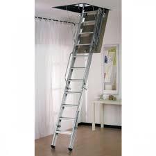 dimes l3 folding steel loft ladder 3 50m galvanised steel loft