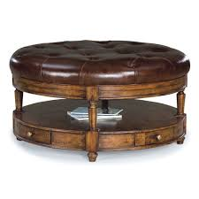 enchanting leather round ottoman coffee table large round leather