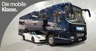 volkner rv more wild german rv s with garages for sport cars