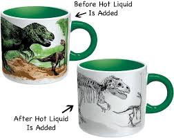 amazon com disappearing dino mug heat sensitive color changing