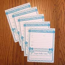 amazon com boy baby shower invitations with diaper raffle ticket
