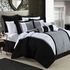 White Bedding Decorating Ideas Bedroom Black And White And Blue Bedding Medium Medium Hardwood