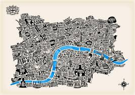 Map Poster London Map Poster Map Of London Poster England