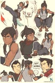 closeup of korra and asami sketches for dodger they wanted asami