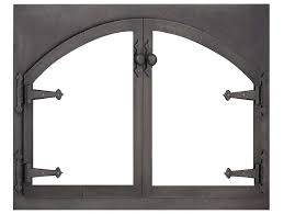 design specialties glass doors blacksmith rectangle arch fireplace doors are custom made in the