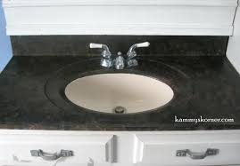 kammy u0027s korner painting a porcelain vanity countertop new and