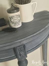 annie sloan paris grey wash over graphite on accent table by