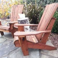 Redwood Adirondack Chair Redwood Adirondack Chairs Front Porch Outdoor Furniture Chair Plans