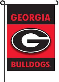 Georgia Bulldog Home Decor by Amazon Com Ncaa Georgia Bulldogs 2 Sided Garden Flag Sports