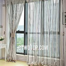 brown and chocolate striped simple casual cheap sheer curtains
