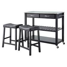black kitchen island with stainless steel top stainless steel top kitchen cart island with stools crosley target