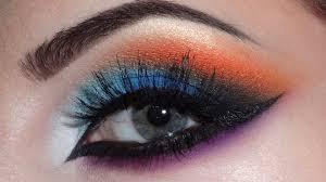 arabic makeup blue orange purple youtube