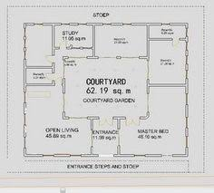 courtyard style house plans courtyard home plan when we build in mexico this is what i kinda