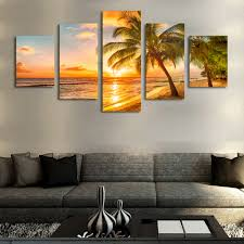 China Home Decor by Aliexpress Com Buy Sunrise Coconut Definition Pictures Canvas
