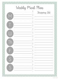 printable blank meal planner weekly menu planner template meal planning templates photograph