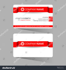 red modern simple light business card stock vector 269785532