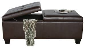 best leather ottoman with storage tufted bonded leather storage