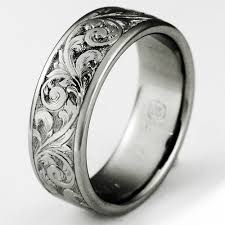titanium mens wedding rings western heritage meets the space age titanium wedding rings